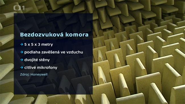 Základní fakta o bezdozvukové komoře. Screenshot z iVysílání.cz