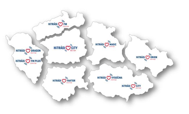Nová mapa pokrytí rodiny Hitrádií od 1.5.2017