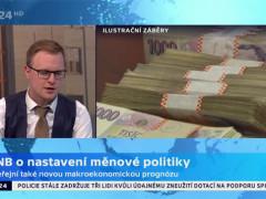Screenshot z vysílání programu ČT 24
