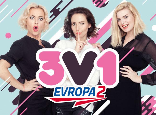 Trio Nikol Štíbrová, Veronika Arichteva a Martina Pártlová. Foto: Evropa 2