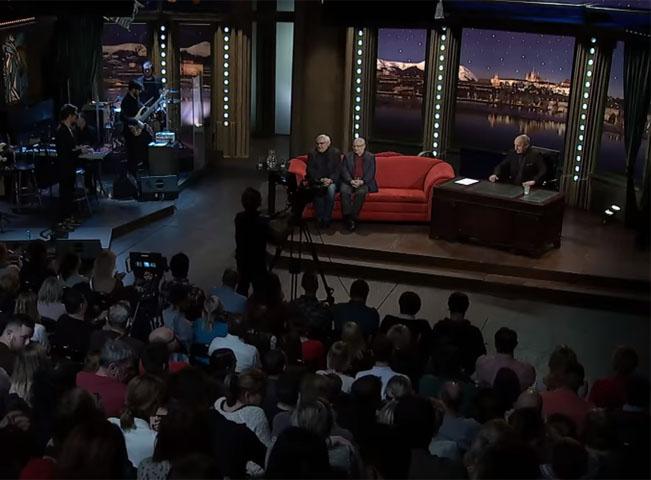 Scéna pořadu Show Jana Krause. Ilustrační foto, screenshot z YouTube