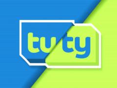 Logo TUTY TV v rámci testovacího vysílání v platformě Skylink