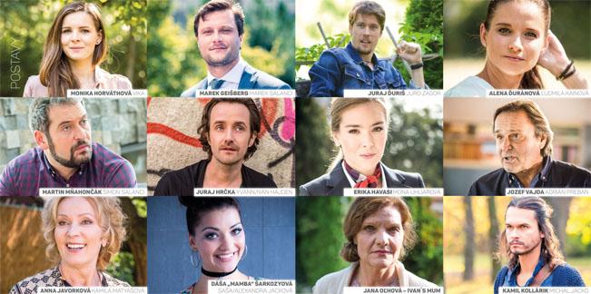 Postavy nového seriálu TV JOJ Pravá tvár. Zdroj: prezentace TV JOJ