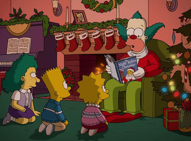 Simpsonovi - The Simpsons - 28. série - ukázka vánoční epizody. Fotografii poskytla FTV Prima