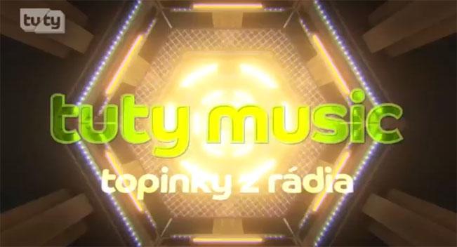 Blok videoklipů TUTY Music je prozatím jediným pořadem vlastní tvorby TUTY TV. Screenshot RadioTV