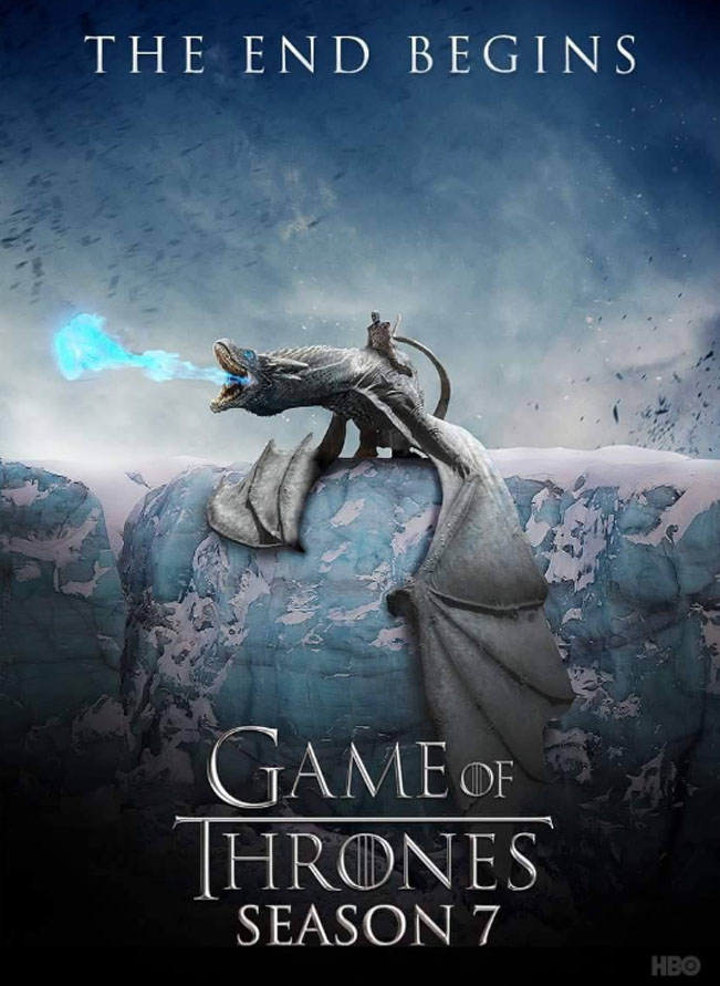 Plakát k sedmé sérii Hty o trůny - Game of thrones Season 7 poster