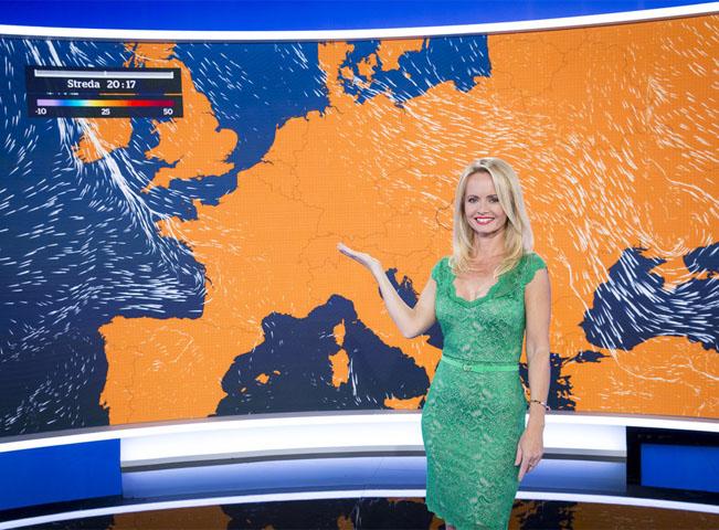 Relace o počasí se vysílá v živém prostředí, nikoliv ve virtuální kulise. Zdroj: TV Markíza