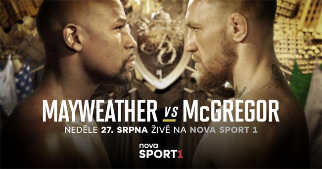 Zápas Mayweather - McGregor na Nova Sport 1. Zdroj foto: archiv TV Nova
