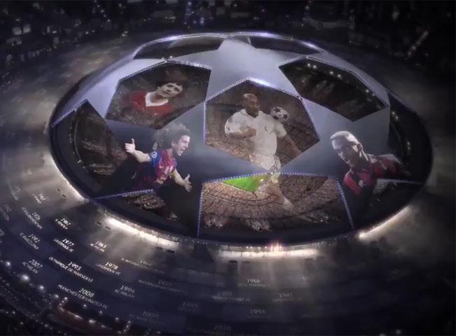 Liga mistrů na O2 TV Sport. Screenshot z videoupoutávky O2 TV Sport