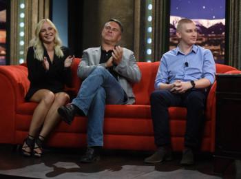 Hosté Show Jana Krause ve stťedu 6. záťí 2017: Markéta Konvičková, Marek Singer a Lukáš Hakoš. Foto poskytla: FTV Prima