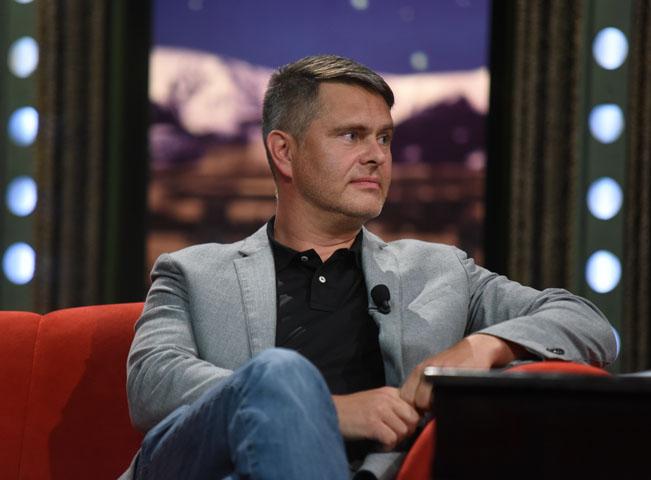 Generální ředitel TV Prima Marek Singer v Show Jana Krause. Fotografii poskytla: FTV Prima