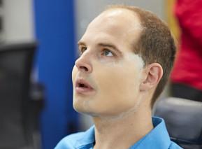 Jan Maxián v maskérně. Foto: archiv TV Nova
