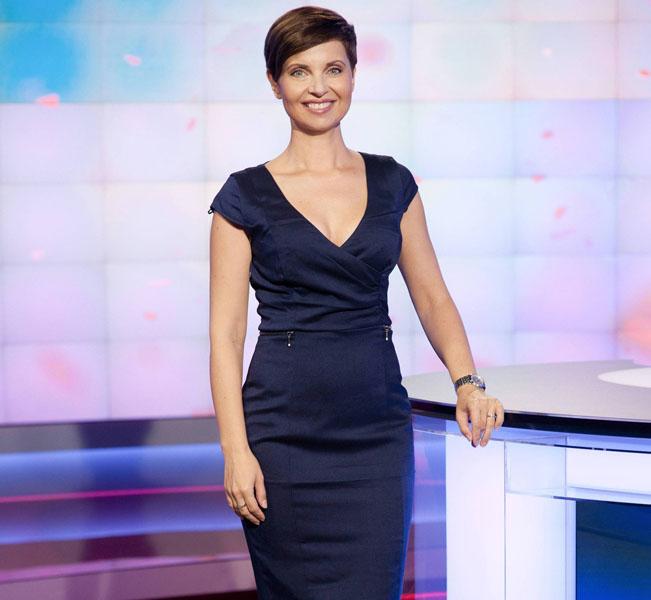 Markéta Fialová ve volebním studiu TV Nova. Foto: archiv TV Nova