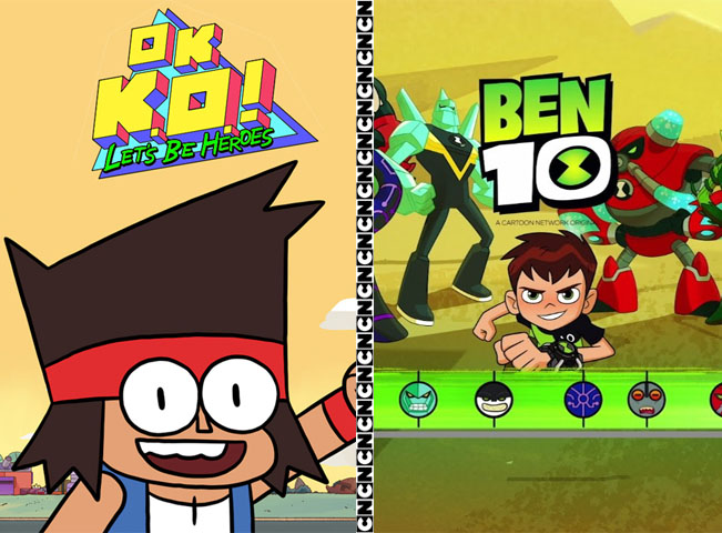 Cartoon Network v listopadu uvádí nový pořad K.O. OK! Prostě koukej a druhou řadu seriálu Ben 10. Koláž: RadioTV.cz