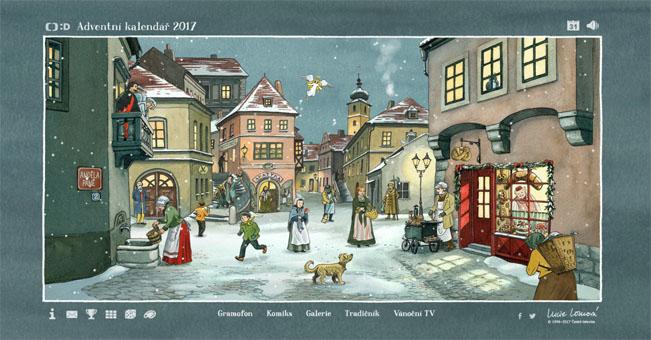 Ukázka webového adventního kalendáře České televize