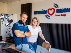Magda Odtáhalová a Radek Erben, zdroj. HItrádio Orion