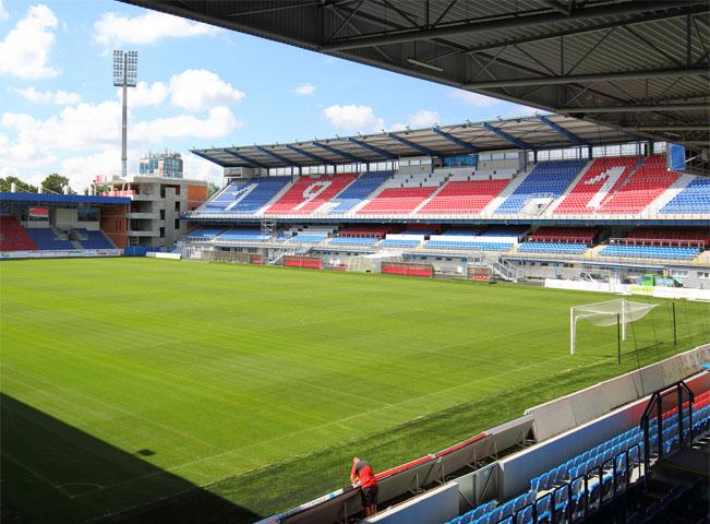 Stadion Viktorie Plzeň. Fotografii poskytla společnost O2 Czech Republic