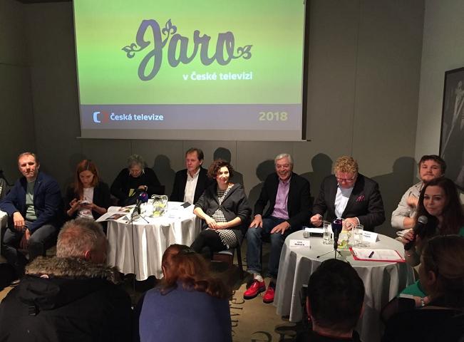 Tisková konference České televize k jarní sezóně 2018 v Café Louvre, autor: Martin Petera
