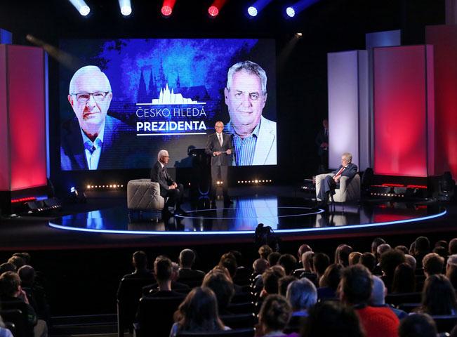 Scéna pořadu Česko hledá prezidenta. Foto: FTV Prima