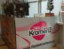 Prosklené vysílací studio Rádia Kroměříž. Ilustrační foto poskytlo Rádio Kroměříž