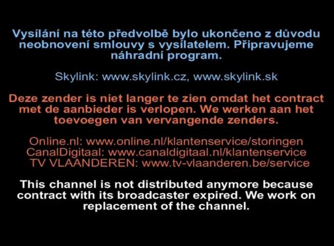 Oznam na programových pozicích Travel Channel , Fine Living a Food Network u operátora M7 Group, vlastníka služby Skylink. Screenshot RadioTV.cz