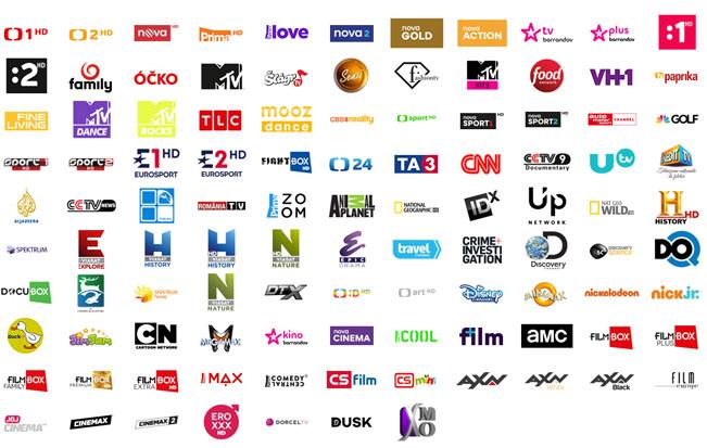 """Úplná programová nabídka satelitní služby T-Mobile SAT TV. Nejvyšší balíček """"L"""". Stav k 23.1.2018. Zdroj: t-mobile.cz/satelitni-tv"""