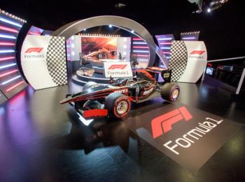 Nové studio k přenosům Formule 1 na stanicích Sport1 a Sport2. Fotografii poskytla skupina AMC Networks International Central and Northern Europe