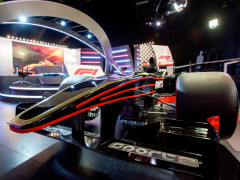 Nové studio k přenosům Formule 1 na stanicích Sport1 a Sport2. Fotografii poskytla skupina AMC Networks International Central and Northern Europe