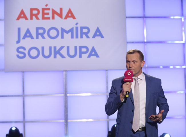 Jaromír Soukup v pořadu Aréna Jaromíra Soukupa. Foto: Barrandov.tv