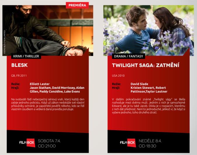 KLIKNI PRO ZVĚTŠENÍ - FilmBox v dubnu uvede krimi thriller Blesk a Twilight Saga: Zatmění. Zdroj: sledujfilmbox.cz