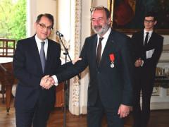 Roland Galharague s Michelem Fleischmannem. Fotografii poskytla společnost Lagardere Active ČR