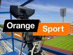 Logo kanálu Orange Sport – na pozadí ilustrační fotografie Shutterstock.com