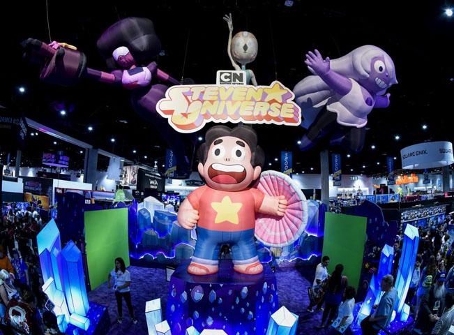 Postavička Steven Universe dominovala v rámci expozice Cartoon Network na letošním veletrhu Comic Con v San Diego. Foto: Cartoon Network
