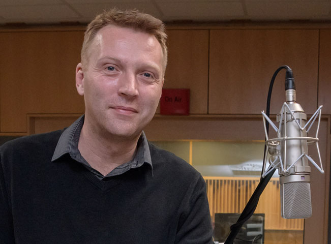 Šéfredaktor Rádia Junior Tomáš Vacek. Foto: Khalil Baalbaki, Český rozhlas