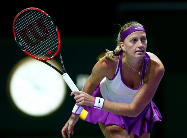 Petra Kvitová, archivní foto z Turnaje mistryň poskytla O2 TV