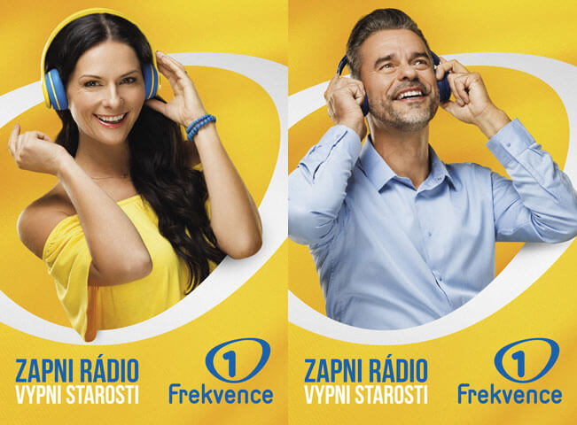 Postery ke kampani Zapni rádio, vypni starosti. Zdroj: Frekvence 1