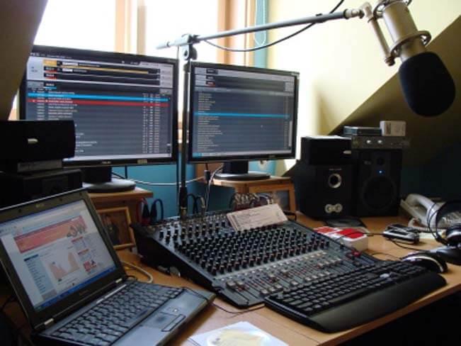 Studio Rádia Samson. Foto: www.radiosamson.cz