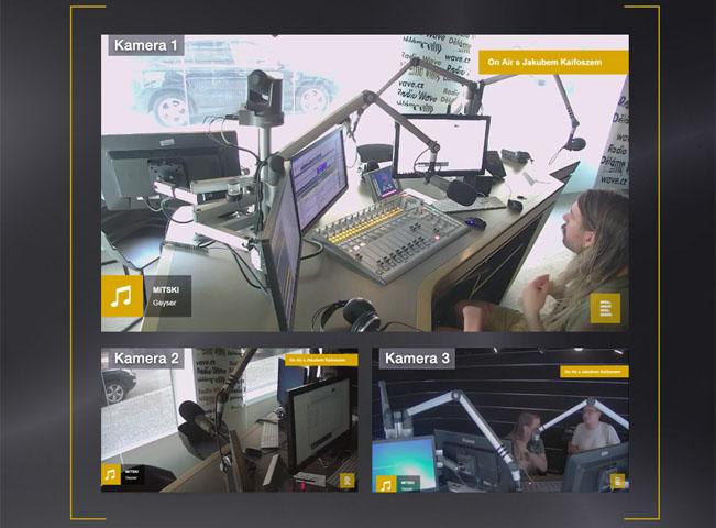 Vizuální rádio nabízí v určitých intervalech i pohled do studia. Ukázku poskytl Český rozhlas