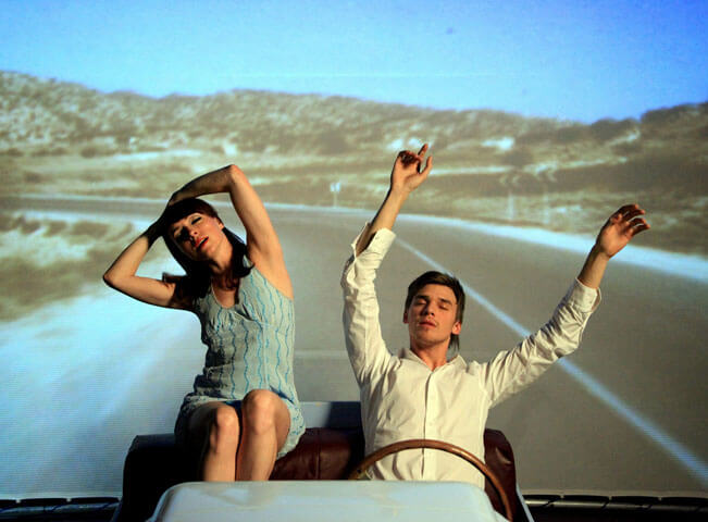 Fotografie k představení Bláznivý Petříček. Tatiana Vilhelmová a Vojtěch Dyk. Foto poskytla Mall.tv, autorem fotografie je Martin Kamen