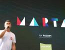 Marek Singer představuje novou talk-show Marta, vysílat se bude každé úterý po seriálu Krejzovi, foto: Martin Petera