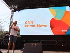 Marek Singer láká na grafiku připravované zpravodajské stanice CNN Prima News, foto: Martin Petera