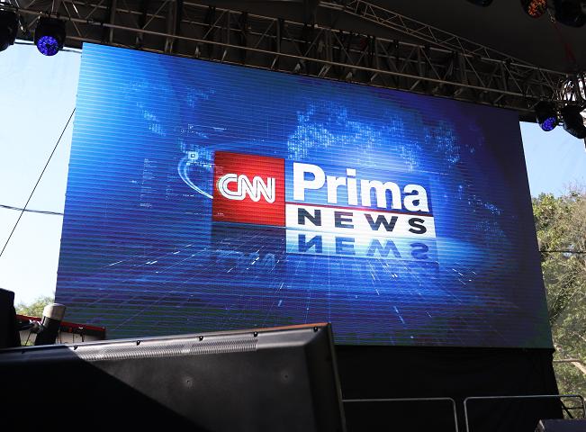 Logo CNN Prima News představeno na tiskové konferenci k podzimnímu schématu. Foto: Martin Petera