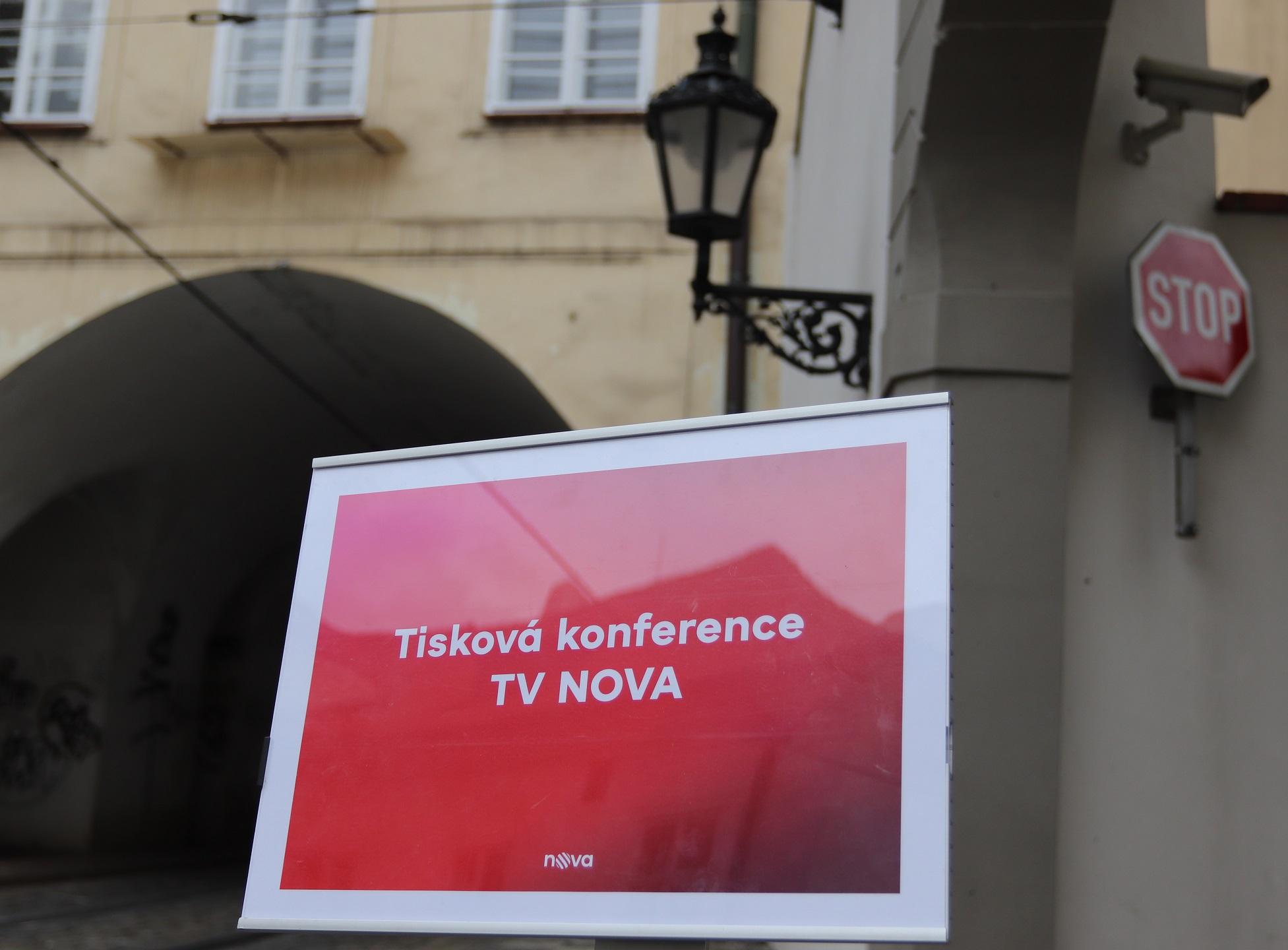 Tisková konference skupiny Nova, autor fotografie: Martin Petera
