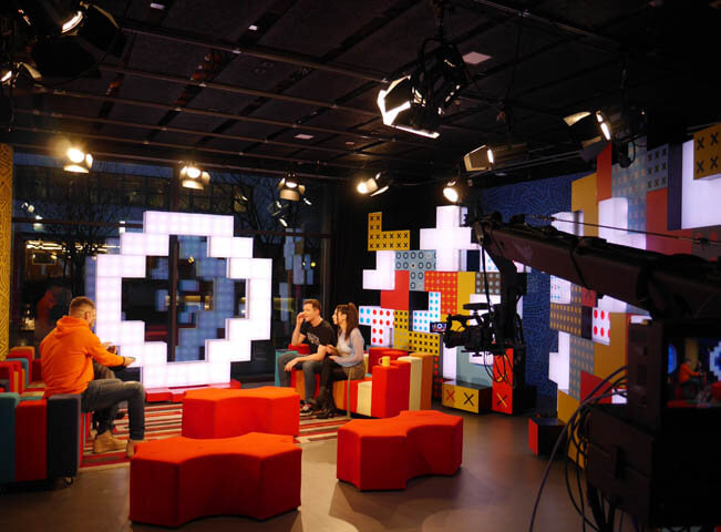 Pohled do studia TV ÓČKO. Zdroj: Stanice O