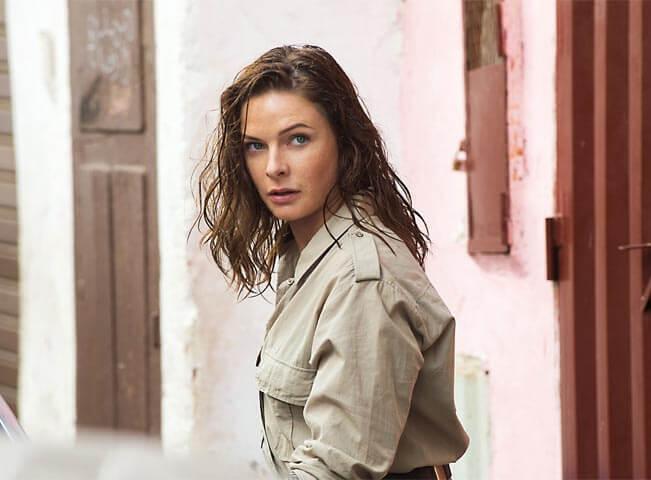 Rebecca Ferguson ve filmu Mission Impossible - Národ grázlů. Fotografii poskytla agentura zastupující značku FilmBox na českém a slovenském trhu