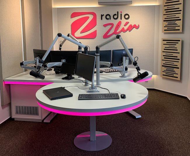 Celkový pohled na nové vysílací studio. Foto: Rádio ZLín