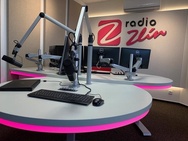 Nové studio Rádia Zlín. Foto: Rádio Zlín