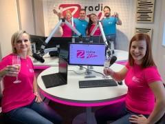 Tým Rádia Zlín v novém vysílacím studiu. Foto: Rádio Zlín