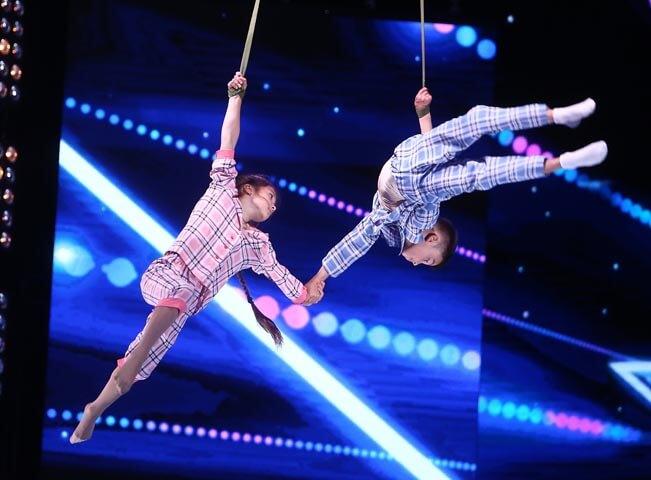 Katya a Nikita, malí akrobaté z Ukrajiny. Zdroj: FTV Prima