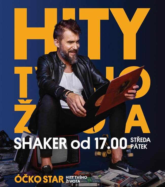 Bořek Slezáček v pořadu SHAKER televize ÓČKO STAR. Zdroj foto: Mafra